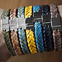 Royal Blue Silver Leather Bracelet Serac Bracelet image