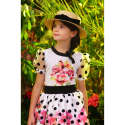 T-Shirt with Polka Dot Sleeves  image