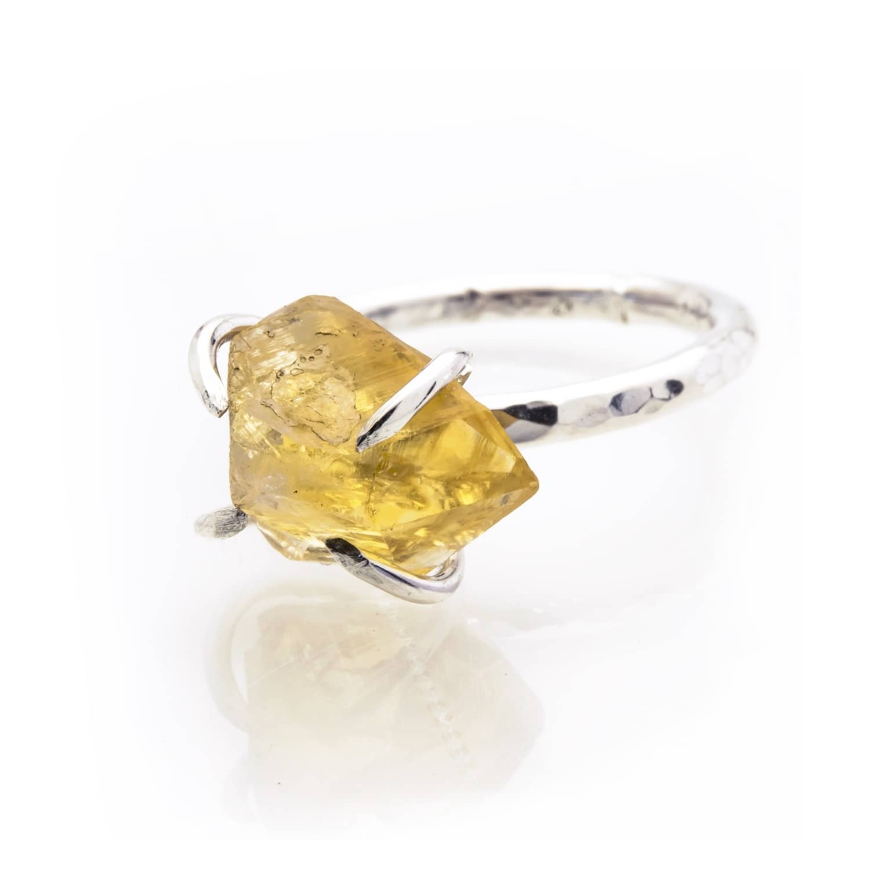 821068f74d315 Raw Citrine Ring by Caroline Stokesberry-Lee