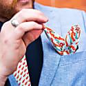 Banners - Orange - Hand Rolled Silk Pocket Square image
