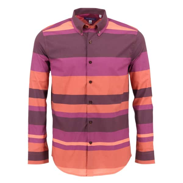 LORDS OF HARLECH Morris Shirt In Warm Stripe
