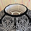 Black & White Art Nouveau Print Scalloped Dome Shade with Tassels image