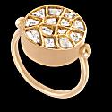Diamond & Gold White Hot Sun Ring image