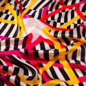 Noir et Blanc Crime Silk Scarf image