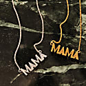 Art Deco Mama Necklace - Silver image