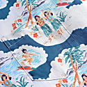 Far Afield Stachio Short Sleeve Shirt Waikiki Print Ensign Blue image