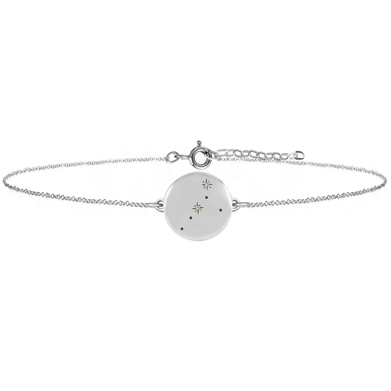 No 13 - Cancer Zodiac Constellation Bracelet Diamonds & Silver