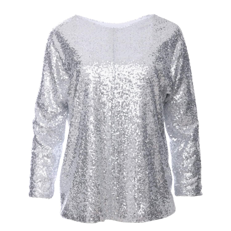 6316ec30f0d Jasmine Silver Glitter Sequin Top   Zalinah White   Wolf & Badger