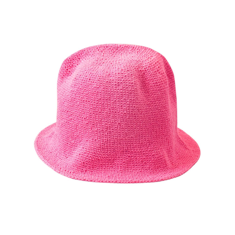 Florette Crochet Bucket Hat In Pink Brunna Co Wolf Badger