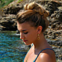 Aphrodite Charm Hoops Gold image