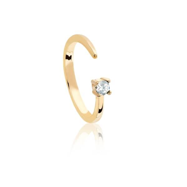 ASTRID & MIYU Aries Zodiac Ring In Gold