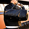 Leather Weekend Classic Duffle/Holdall - Overnight/Gym Bag In Black image