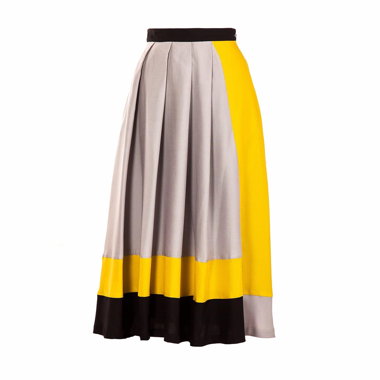 7744d4cbf3b Color Block Skirt Grey image