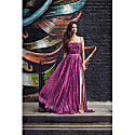 Iconic Romantic Silk Indo Western Evening Gown image