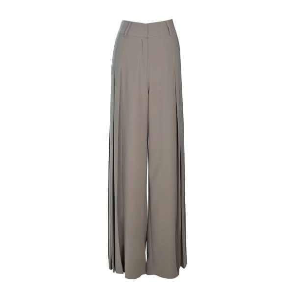 MUSÉE Wide Leg Plisse Trousers