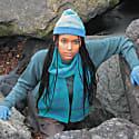 Cloud Nine Lambswool Hat In Blue & Green image