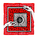 Metaphysic Foulard With Witch Print On Red Background image