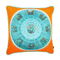 Capella Chigi Blu Silk Cushion image