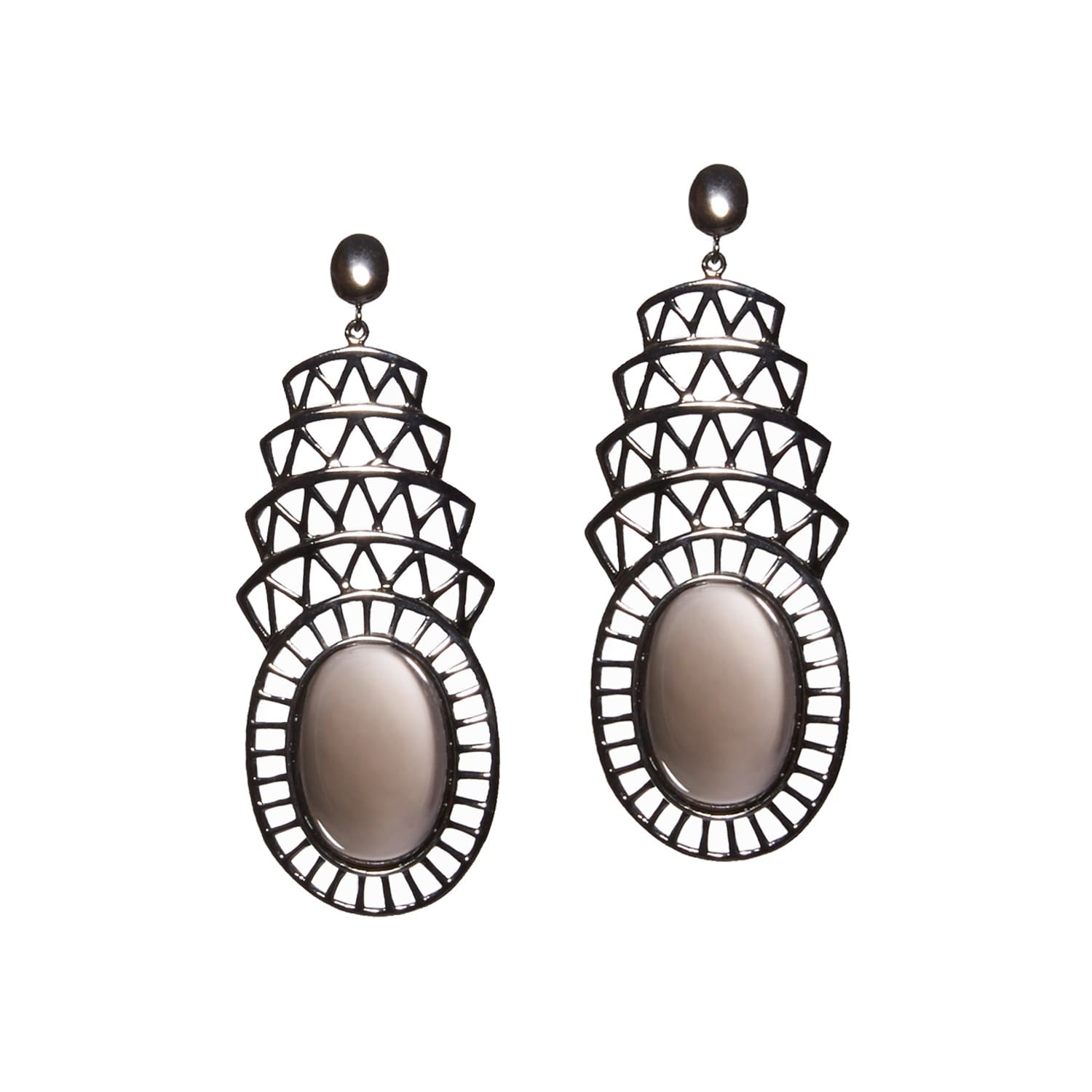 stud gunmetal lilou ball little polished earrings polish fajl sheila