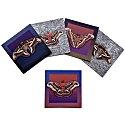 Set of Five Textured Greeting Cards With Envelopes Assorted Giant Silkmoths image