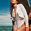 Gossammer One-Piece Swimsuit In White image