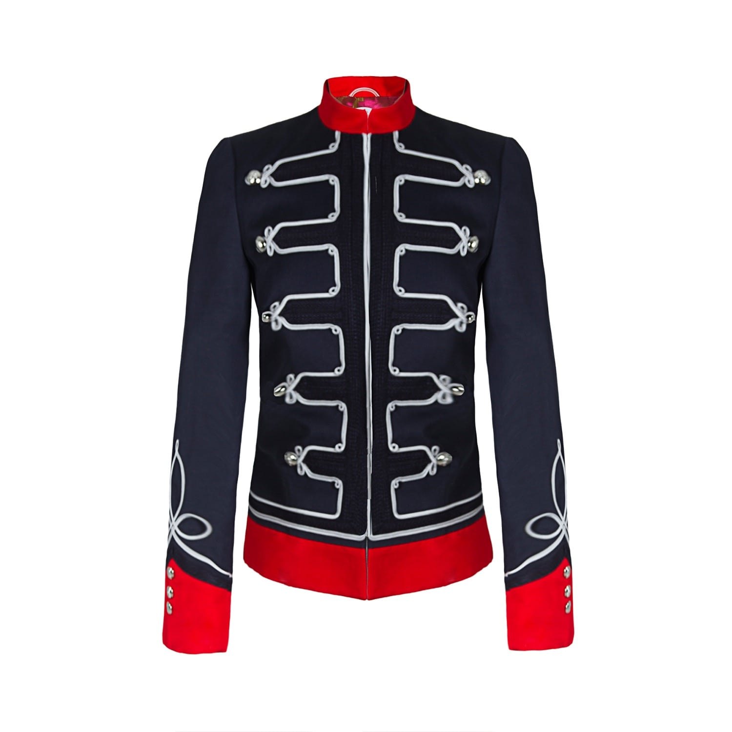 72bbb1872d8 Navy Blue Military Jacket With Embroidiery by The Extreme Collection