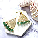 Green Quartz Triangular Hook Earrings image