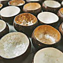 Isla Handcraft Mother Of Pearl Coconut Bowl - Set Of 3 image