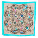 Teal Siena Silk Scarf image