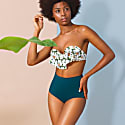 London Teal High Waist Bikini Bottom image