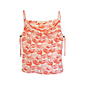 Red Swirl Silk Tank With Bungee Cord Straps image