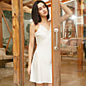 22Mm Organic Silk Dress Elegant V-Neck-Marilyn White image
