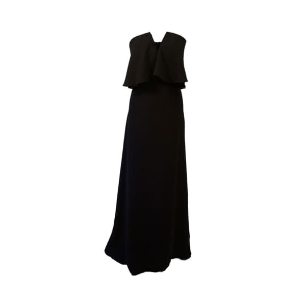 LAUREN LYNN LONDON The Amelie Maxi Dress In Black