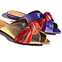 St. Petersburg - Purple Metallic Flat Sandals image