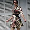 Silk Wrap Dress In Animal Print image