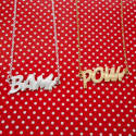 BAM Letters Necklace Large in Gold image
