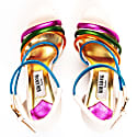 Colourful Sporty Wedge Sandals White image