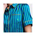 Poppy Silk Pyjama Blouse In Rainforest Stripe image