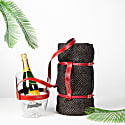 """""""Keep Your Cool"""" Champagne Bucket - Red Leather Strap image"""