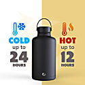 2 Litre Liquorice Insulated Epic Bottle Thermal Canteen Stainless Steel image