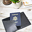 Classic Leather Passport Cover In Ebony Black image