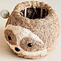 Coco Coir Animal Planter Mini Pot Sloth Light image