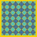 Forme Jaune & Bleue Silk Chiffon image
