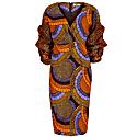 Coco Exaggerated Sleeve Midi Dress - Mixed image
