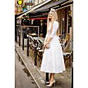 Jacquard Dress Alyzee White image