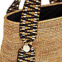 Manado Oval Bag - Natural With Black & Gold image