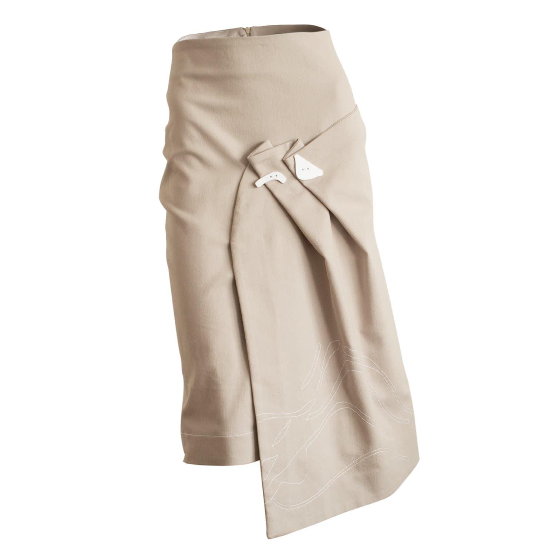 3c6b3855c7 Pastel Pink Denim Skirt   Constantine/Renakossy   Wolf & Badger