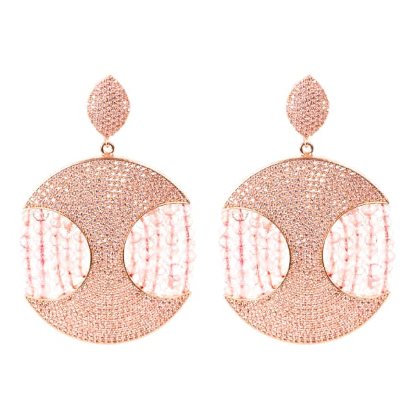 Latelita London Copacabana Earring Rose Quartz QeSeC