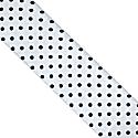Polka Dot Silk Neck Scarf White image
