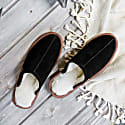 Classic Men's Black Sheepskin Slippers image